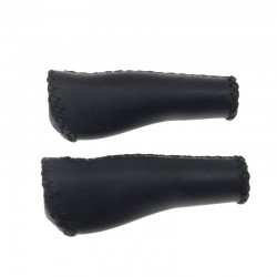 rukojeti Leatherette ProX Ergo černé, koženka, 135 mm