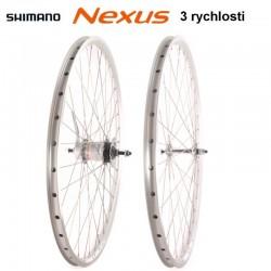 """kolo vypletené 26"""" (559 mm), SET přední+zadní, Shimano Nexus 3rychl."""