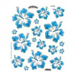 samolepka na kolo - rámový polep Flowers Hawaiian Blue