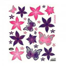 samolepka na kolo - rámový polep Flowers and Butterflies