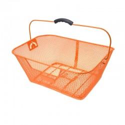 koš na nosič, drátěný, 40 x 29 cm, oranžový