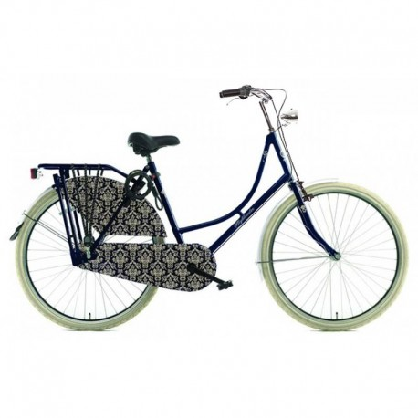 retro jízdní kolo v tmavě modré barvě se stříbrnými doplňky