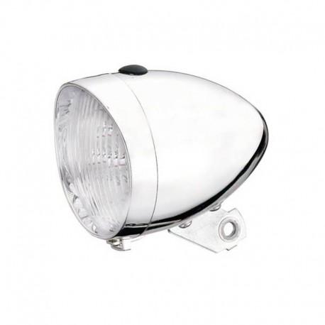retro světlo na jízdní kolo, chrom, 3 LED