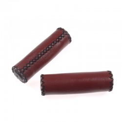 rukojeti Leatherette bordó, koženka, 120 mm, černá nit