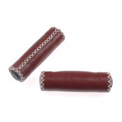 rukojeti Leatherette bordó, koženka, 120 mm, bílá nit