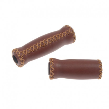 rukojeti Leatherette ProX hnědé, koženka, 128+92 mm