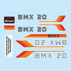 samolepka na kolo - rámový polep BMX 20