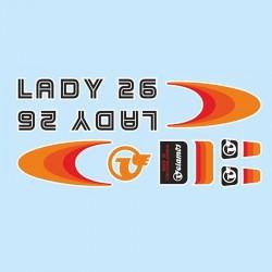 samolepka na kolo-rámový polep Lady 26