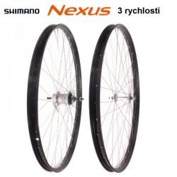 """kolo vypletené 28"""" (635 mm) FE, SET přední+zadní, Shimano Nexus 3rychl."""