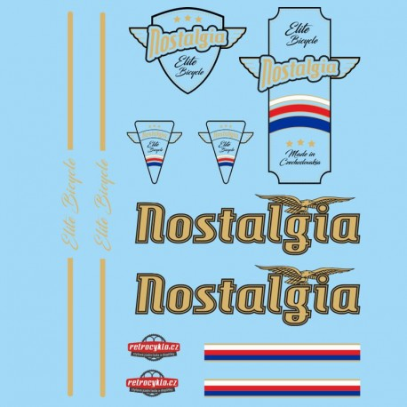 samolepka na kolo - rámový polep Nostalgia