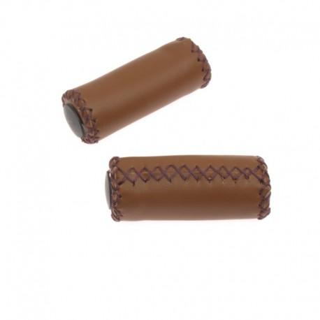 rukojeti Leatherette hnědé tmavé, koženka, 90 mm
