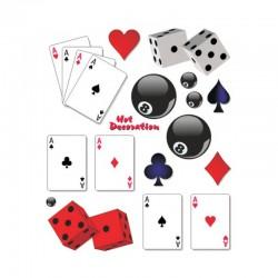 samolepka na kolo-rámový polep Cards and Gambles