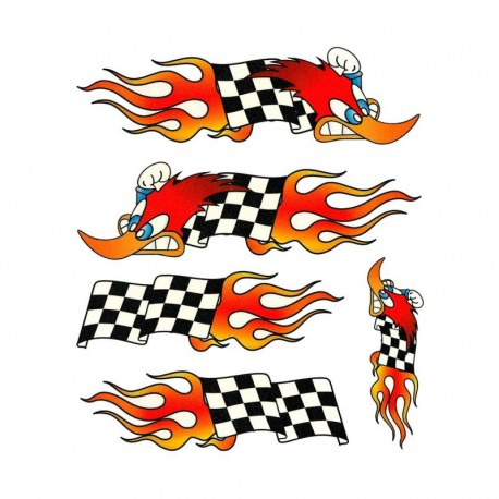 samolepka na kolo - rámový polep Flag Woodpecker