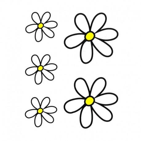 samolepka na kolo - rámový polep Kit Flowers