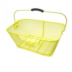 koš na nosič, drátěný, 40 x 29 cm, žlutý