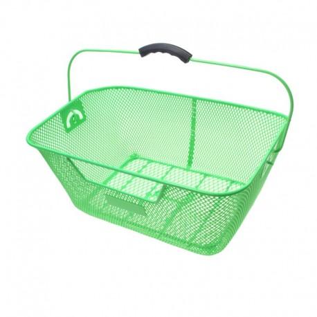koš na nosič, drátěný, 40 x 29 cm, zelený