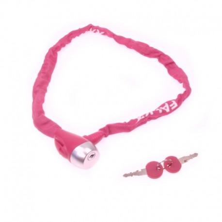 zámek řetězový Falkx 3,5x800 mm, pink