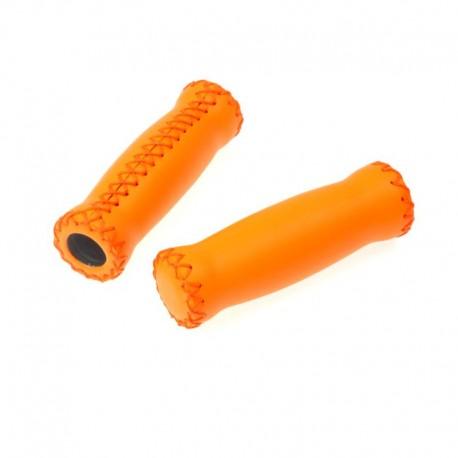 rukojeti Leatherette Attune oranžové, koženka, 125 mm
