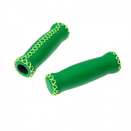 rukojeti Leatherette Attune zelené, koženka, 125 mm