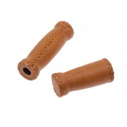 rukojeti Leatherette Monte Grappa hnědé medové, koženka, 120+90 mm