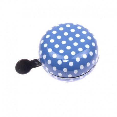 zvonek Ding Dong 80 blue+white dots