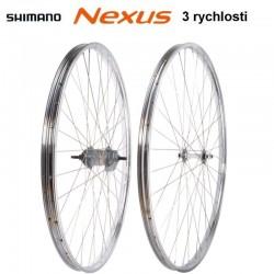 """kola vypletená 28"""" (622 mm) Beretta Westrick chrom, SET přední+zadní, Shimano Nexus 3r"""