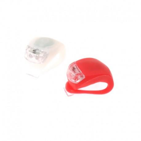 blikačka přední+zadní Dunlop, 2xLED, červená+bílá