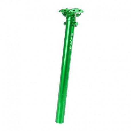 sedlovka 31,6/350 mm, hliník, zelená, se zámkem, M-Wave