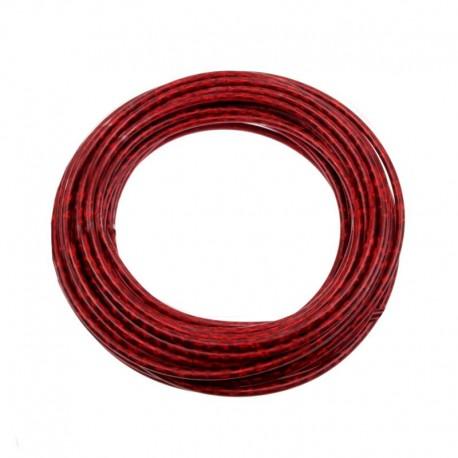 bowden brzdový, 5 mm, červený lesklý
