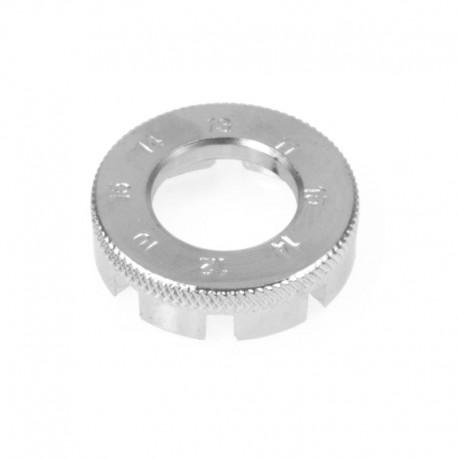 klíč centrovací, kovový (chrom)
