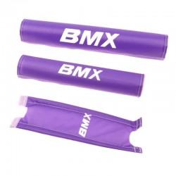 chránič rámu a řidítek BMX, fialový, sada