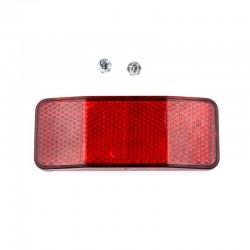 odrazka zadní (červená), 100x40 mm, na nosič