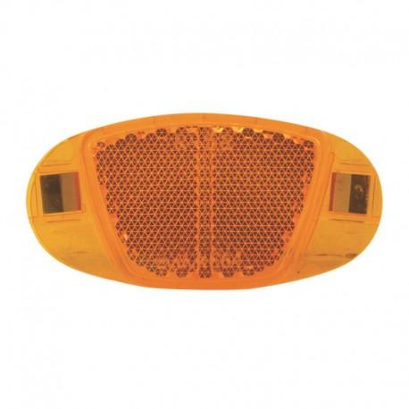 odrazka do výpletu (oranžová), Ellipse, kov. úchyt
