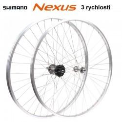 """kolo vypletené 28"""" (635 mm, 36 děr) SET přední+zadní, Remerx RMX AL, Nexus 3rychl."""