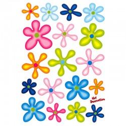 samolepka na kolo-rámový polep Flowers Colors large