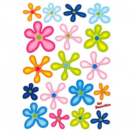 samolepka na kolo - rámový polep Flowers Colors large