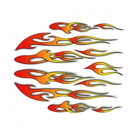 samolepka na kolo - rámový polep Flames