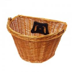 košík na řidítka, proutěný, 35 x 25 cm, půlkulatý, rychloupínací, přírodní