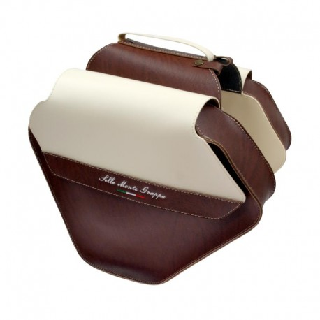 brašna Monte Grappa Fashion, dvojitá, hnědá scansano/krémová