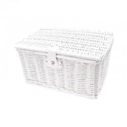 košík na nosič, proutěný, 40 x 28 cm, bílý, Mand