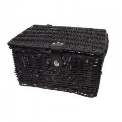 košík na nosič, proutěný, 40 x 28 cm, černý, Mand