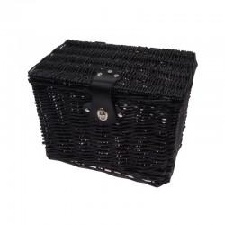 koš na nosič, Mand proutěný, 32 x 21 x 23 cm, černý