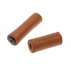 rukojeti Leatherette hnědé medové, koženka, 125+85 mm