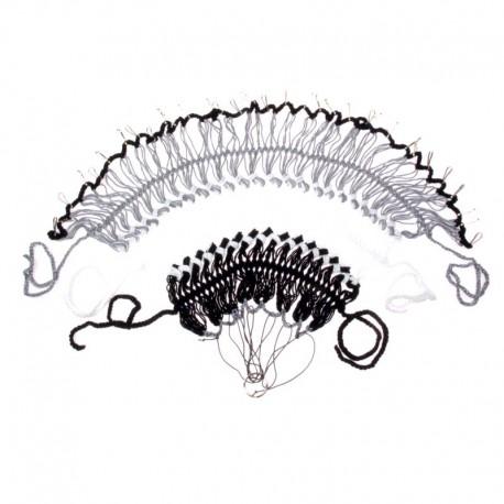 kryt zadního kola, síťka pletená, černo-bílo-šedá