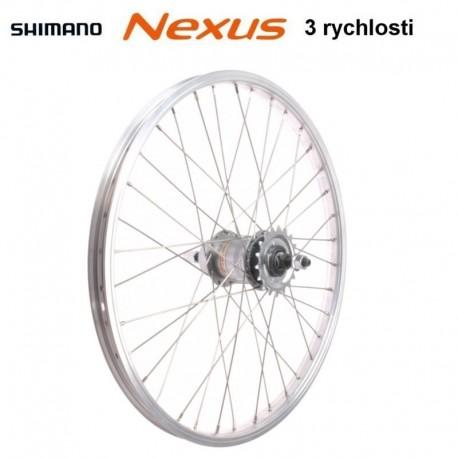 """kolo vypletené 24"""" (540 mm, 36 děr) zadní, Remerx RMX AL, Shimano Nexus 3rychl."""