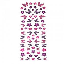 samolepka na kolo-rámový polep Flowers and Butterflies-Set 70