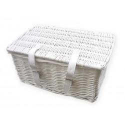 košík na nosič, proutěný, 48 x 36 cm, bílý, Mand